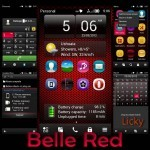 Scarica Download Gratis Tema Nokia Symbian 'Belle Red' by Licky