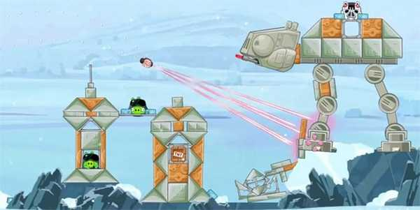Angry Birds Star Wars per Nokia Lumia Windows Phone 8 episodio Hoth