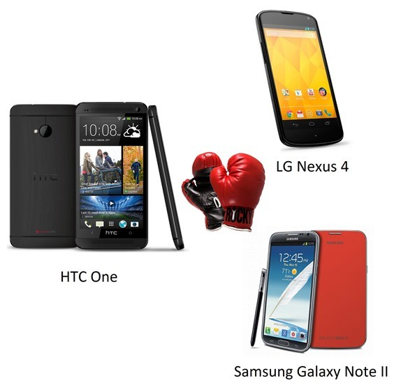 HTC-One-vs-Nexus-4-vs-Galaxy-Note-II-Comparazione