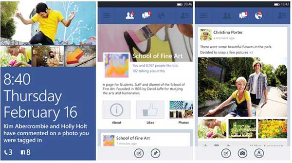 Facebook per smartphone Windows Phone 8