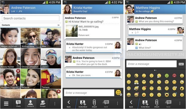 Blackberry Messenger per Android release ufficiale .APK gratis Download