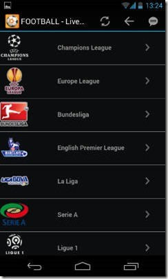 Calcio Stream Live guarda le partite di calcio live tv streaming su tab e smartphone
