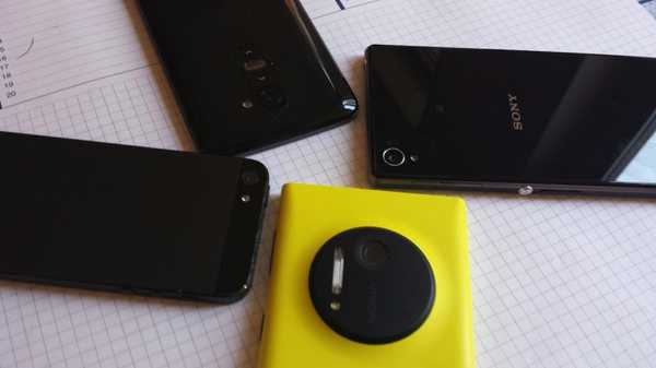 Lumia 1020, Xperia Z1, Galaxy S4 e HTC One