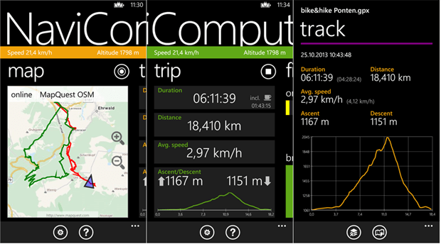 NaviComputer mappe GPS maps gratis offline per Windows Phone