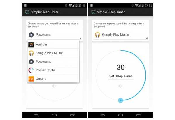 App Sleep Timer Android come mettere lo sleep alla musica
