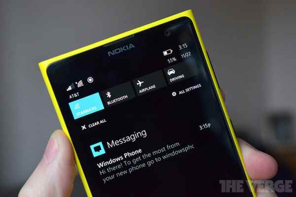 Windows Phone 8.1 Centro notifiche Anteprima