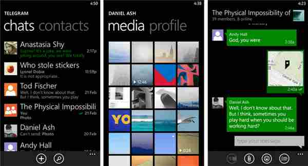 Telegram Nokia Lumia Download Messenger per Windows Phone