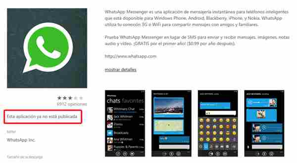 WhatsApp Nokia Lumia scompare dallo store di Windows Phone !