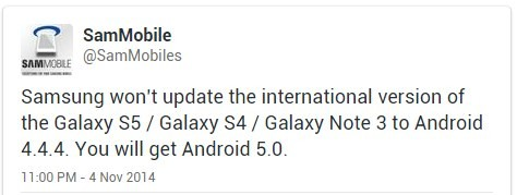 Galaxy S4 Galxy S5 Note 3