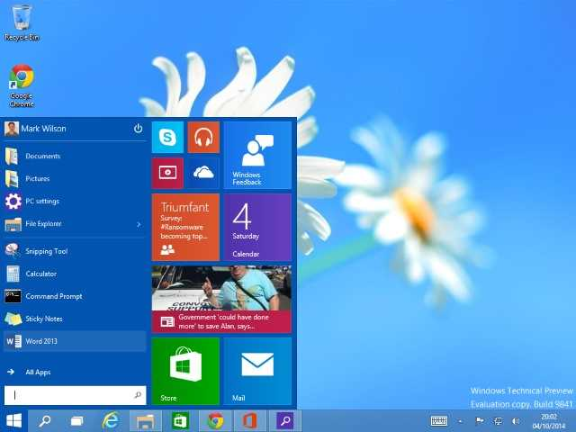 Windows 10 ripristinare menu Start classico Windows 7