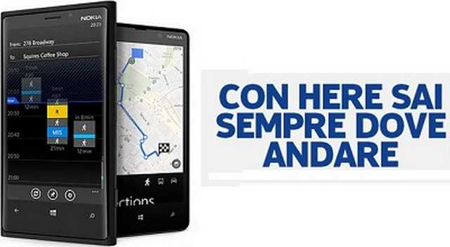 Nokia HERE mappe gratis download .apk ultima versione