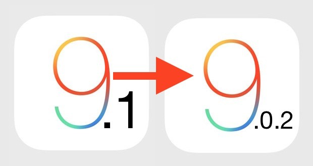 Iphone iPad Downgrade da iOS 9.1 a iOS 9.0.2
