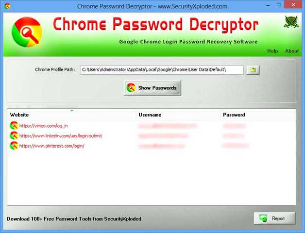 Scoprire password salvate su Google Chrome Download Software