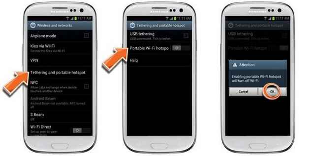 Samsung Galaxy S7 WiFi Hot Spot Non si connette