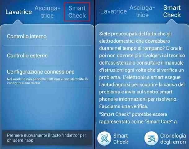 Smart Check Samsung come funziona