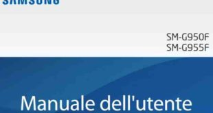 Galaxy S8 Manuale D'uso italiano Pdf Android 7