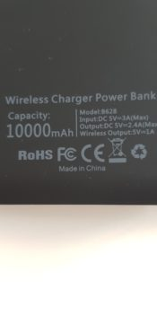 Wireless charger power bank 10000 mAh