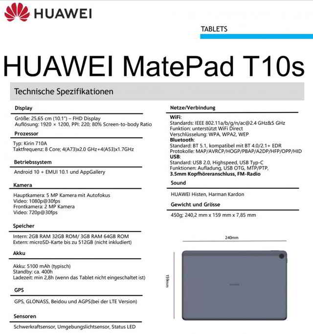 Manuale HUAWEI MatePad T10 PDF Italiano Download