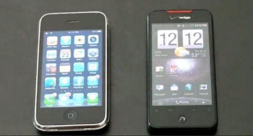 apple iphone vs htc incredible