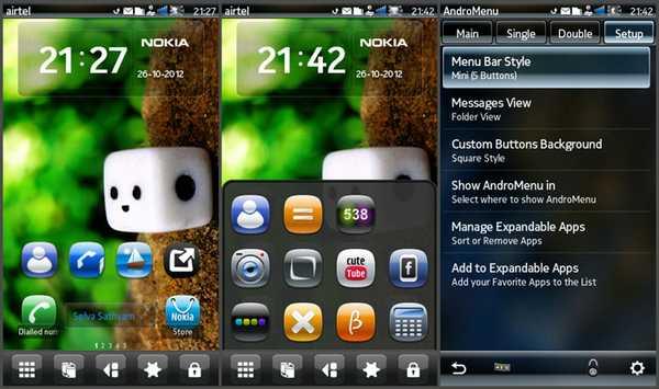 androMenu applicazione symbian