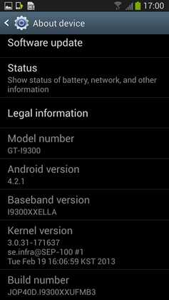 Samsung Galaxy S3 android 4.2.1 download