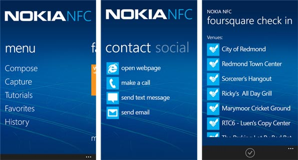 Nokia NFC Write compatibile per Windows Phone8