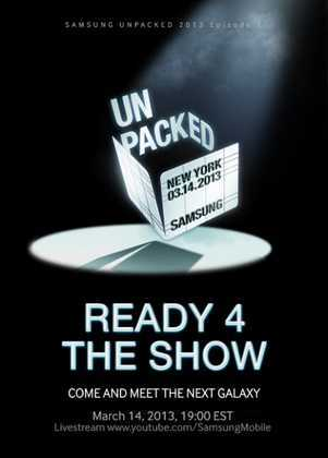 Lieve streaming Galaxy S4 Galaxy S IV Unpacked