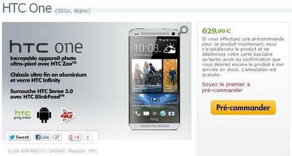 HTC One prezzo expansys