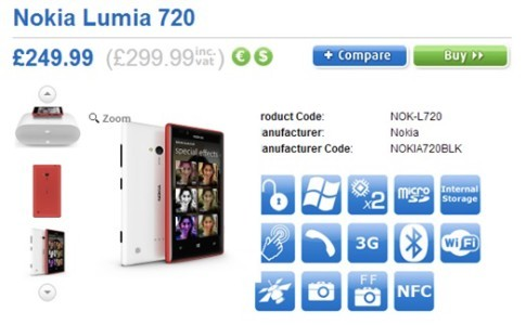 prezzo nokia lumia 720