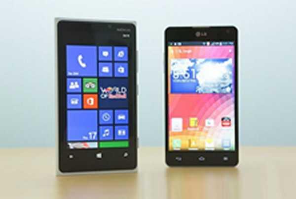 Nokia Lumia 920 LG Optimus G