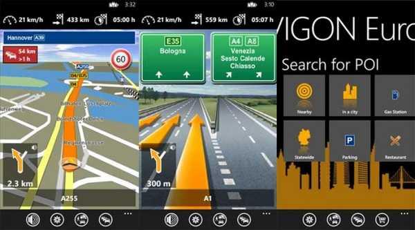Navigon GPS per Luia 920 e Lumia 820