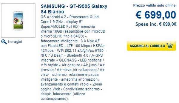 Dove comprare il Galaxy S4