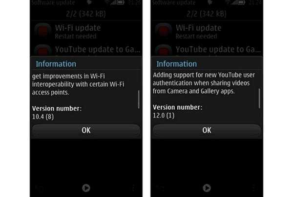 Nokia belle FP1 e FP2 aggiornamento disponibile per smartphone Nokia