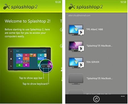 Splashtop 2 Windows Phone 8