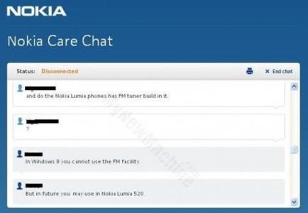 Nokia Lumia aggiornamento porta la Radio FM via etere !
