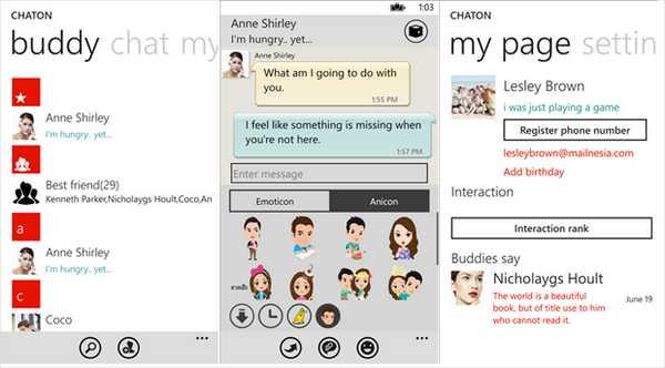 Samsung ChatON compatibile con Nokia Lumia download disponibile