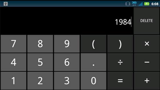 Calcolatrice di Android sbaglia le operazioni