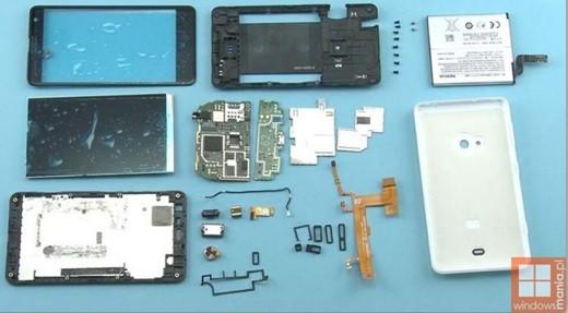 lumia 625 componenti hardware