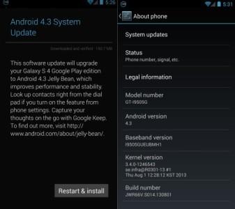 Android 43 su Galaxy S4 e HTC One Google Edition inizia il rilascio