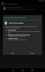 Download Android Device Manager su Google Play nel Google Play Services 3225