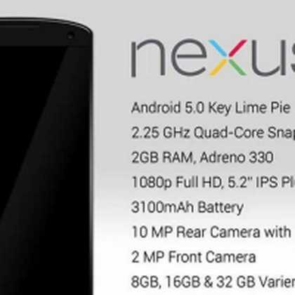 Nexus 5 e smartwatch Google a ottobre con Android 5 Tutti i dettagli