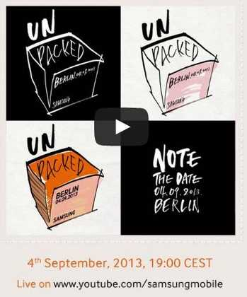 Samsung diretta Live TV streaming presentazione Galaxy Note 3 Ore 19.00