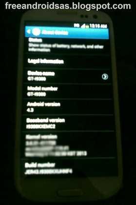 Android 4.3 Su Samsung Galaxy S3 Arriva ad ottobre Foto ufficiale