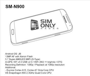 Manuale istruzioni Galaxy Note 3 SMN9005