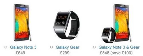 Prezzo ufficiale Galaxy Note 3 e Galaxy Gear acquistati assieme
