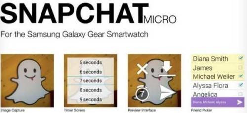 Snapchat la prima App gratis per Galaxy Gear
