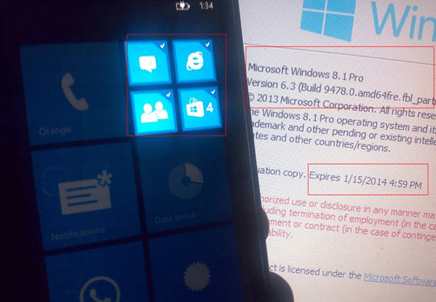 Nuova immagine di Windows Phone 8.1 Blue Reveal Live Tiles Grouping / Folders