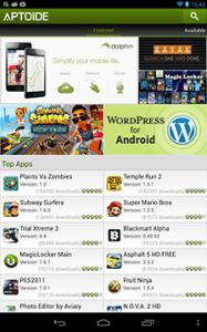Aptoide e GETJAR Download apk gratis per Android