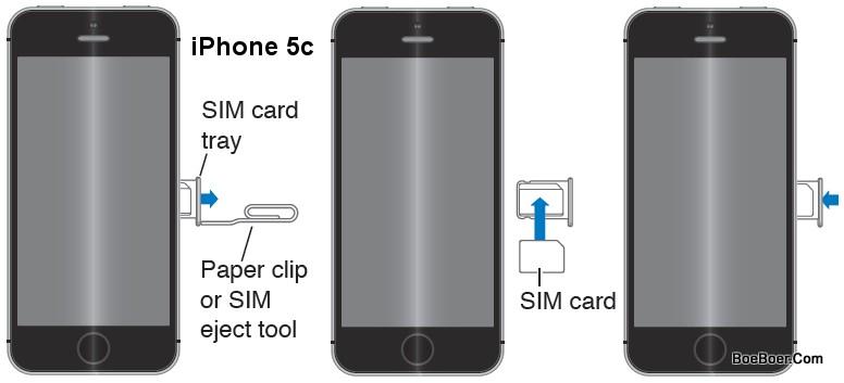 Manuale iPhone 5C iOS 7 come inserire la nano SIM guida e istruzioni