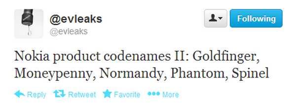 Nokia Lumia Goldfinger, Moneypenny, Normandy, Phantom, Spinel